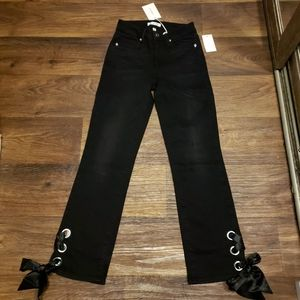 Good American Satin Lace Jeans